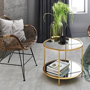 HAKU Beistelltisch B/H/T: 60 cm x 45 goldfarben Beistelltische Tische