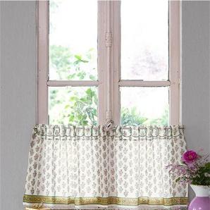 Halbgardine Bhuti bunt - bunt - 100 % Baumwolle - Vorhänge - Gardinen - Schlaufenschals