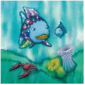 Halbglänzende Tapete Der Regenbogenfisch Zwei Fischfreunde unterwegs