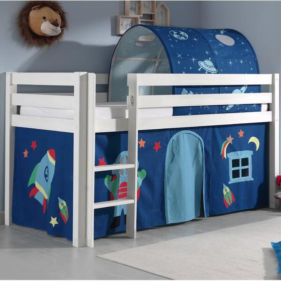 Halbhochbett Escalera Astro mit Textil-Set, 90 x 200 cm