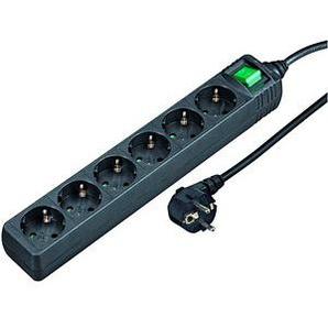 hama   6-fach Steckdosenleiste mit Schalter schwarz