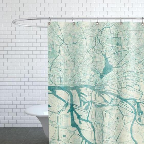 Hamburg Vintage - Duschvorhang