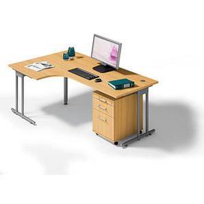 HAMMERBACHER Büromöbel-Set Prokura buche L-Form