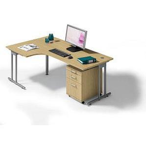 HAMMERBACHER Büromöbel-Set Prokura eiche L-Form