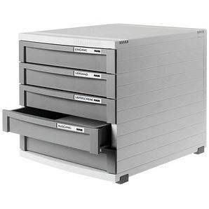 HAN Schubladenbox Contur dunkelgrau DIN B4 mit 5 Schubladen