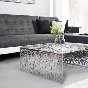 Stylischer Couchtisch ABSTRACT 60cm Alu silberfarbig im Gap Design