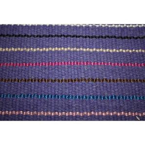 Handgefertigter Kelim-Teppich Deason aus Wolle in Violett