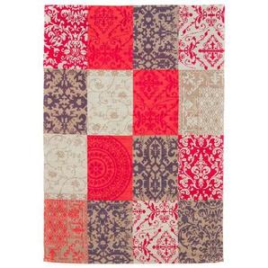 Handgefertigter Kelim-Teppich Siobhan aus Wolle in Rot