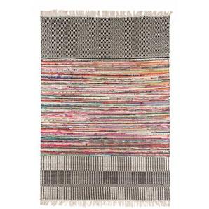 Handgefertigter Kelim-Teppich Truby in Schwarz