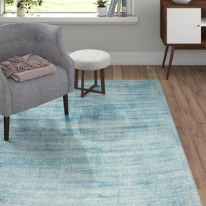 Handgefertigter Teppich Almodovar in Blau