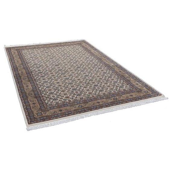 Handgefertigter Teppich Benares aus Wolle in Braun