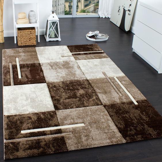 Handgefertigter Teppich Briley in Braun