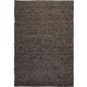 Handgefertigter Teppich Colette aus Wolle in Braun