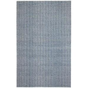 Handgewebter Teppich Dina in Blau