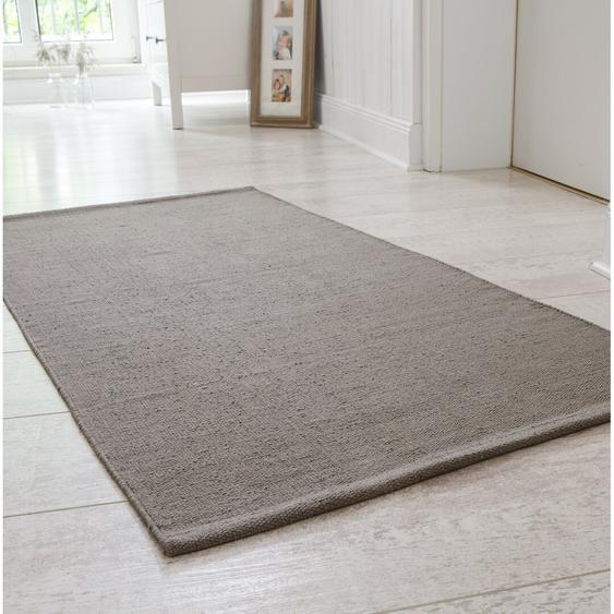 Handgefertigter Teppich Doylestown aus Baumwolle in Schlammgrau