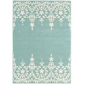 Handgefertigter Teppich Fawnlily in Blau