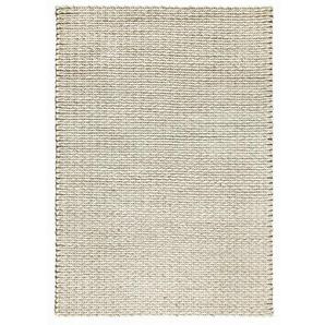 Handgefertigter Teppich Isaias in Creme