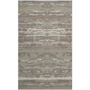 Handgefertigter Teppich Smart aus Wolle in Grau