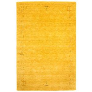 Handgefertigter Teppich Stevie in Gold