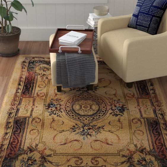 Handgefertigter Teppich Wayne in Braun