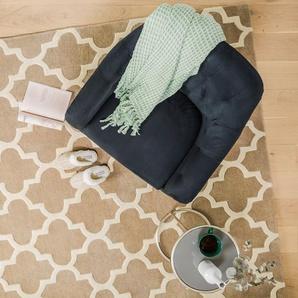 Handgetufteter Teppich Oxon in Beige