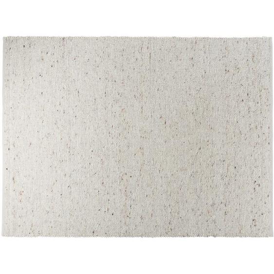 Handweber-Teppich - weiß - Jute, Wolle   Möbel Kraft