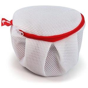 Hangerworld Weißer Waschbeutel mit Reißverschluss Ideal für Reisen BHs Dessous Feinwäsche