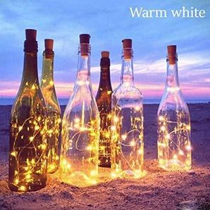 Hankyky Solar Powered 20 Leds Weinflasche Lichter Halloween Weihnachten Hochzeit Party Dekoration Kork Fee String Light
