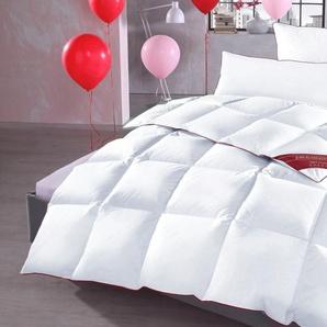 Hanse By Ribeco Daunen-Bettdecke »Jule«, 200x220 cm, ideal für Hausstauballergiker, weiß
