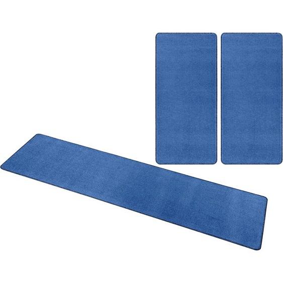 HANSE Home Bettumrandung Shashi, einfarbig, Kurzflor, getuftet B/L (Brücke): 70 cm x 140 (2 St.) (Läufer): 240 (1 St.), U-förmig beige Bettumrandungen Läufer Teppiche