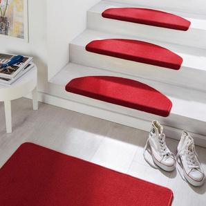 Hanse Home Stufenmatte »Fancy«, 15x 23x65 cm, 7 mm Gesamthöhe, rot