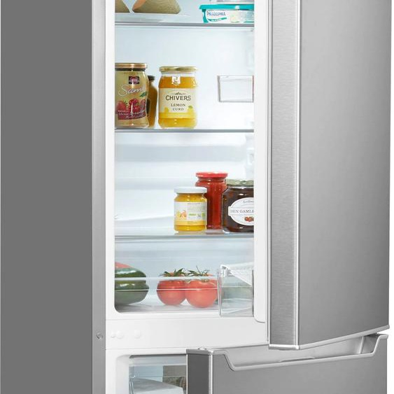Hanseatic Kühl-/Gefrierkombination HKGK14349D D (A bis G) TOPSELLER Rechtsanschlag silberfarben Kühlschränke SOFORT LIEFERBARE Haushaltsgeräte