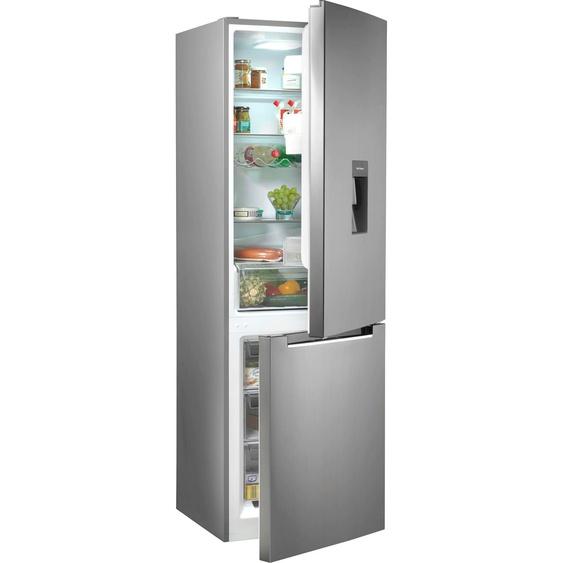 Hanseatic Kühl-/Gefrierkombination HKGK18560DWDI D (A bis G) Einheitsgröße silberfarben Kühlschränke SOFORT LIEFERBARE Haushaltsgeräte