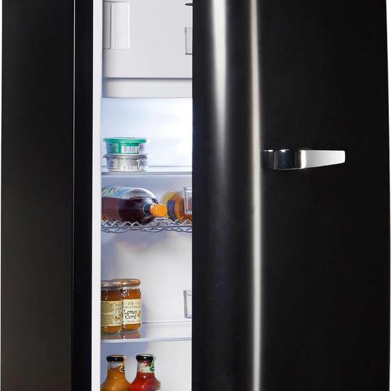 Hanseatic Kühlschrank, Retro-Design E (A bis G) Einheitsgröße schwarz Kühlschränke SOFORT LIEFERBARE Haushaltsgeräte