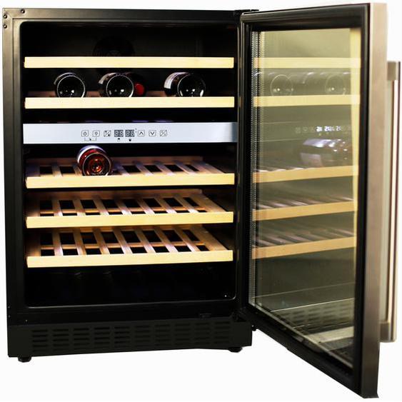Hanseatic Weinkühlschrank HWC46GCIA, für 46 Standardflaschen á 075l G (A bis G) Einheitsgröße schwarz Kühlschränke SOFORT LIEFERBARE Haushaltsgeräte