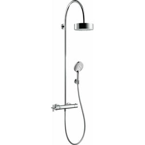 hansgrohe Axor Starck ShowerSolutions Showerpipe mit Thermostat und Kopfbrause 180 1jet, Farbe: Chrom - 39670000