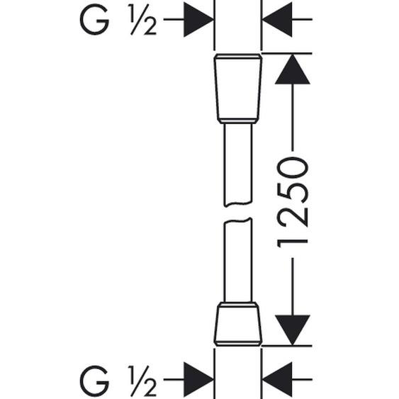 Hansgrohe Brauseschlauch Isiflex B 125cm chrom 28272000