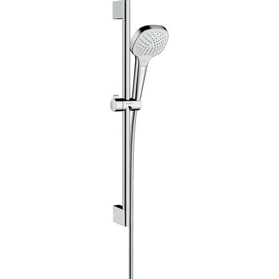 Hansgrohe Croma Select E Brauseset Vario EcoSmart Brausestange 65 cm Weiß/Chrom