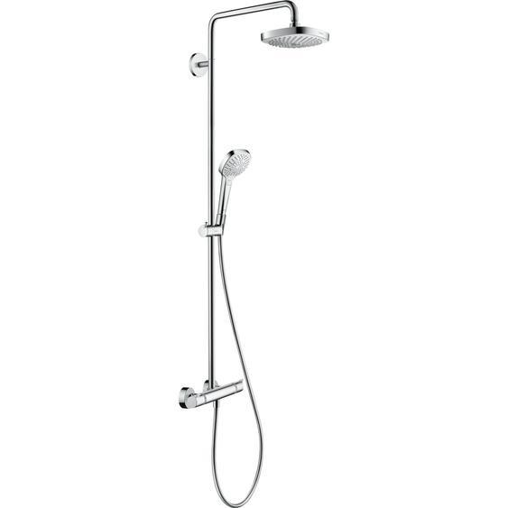 Hansgrohe Duschsystem Croma Select E weiß-chromfarben zwei Strahlarten