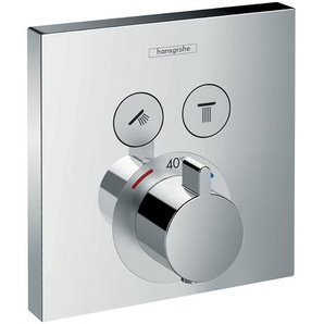hansgrohe ShowerSelect Unterputz Thermostat, 2 Verbraucher, chrom