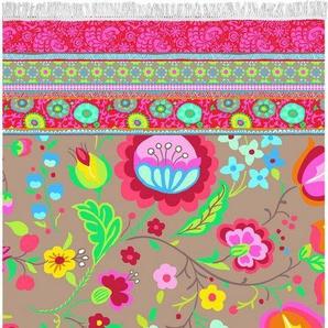 Strandtuch »Kalocsai«, Happiness, mit Blumenranken