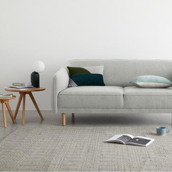Haring 3-Sitzer Sofa, Silbergrau