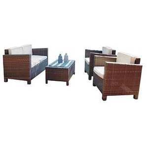 Harms Garden Pleasure Rom Loungegruppe braun