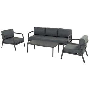 Hartman Charleroi Sofagruppe 4-tlg. Aluminium/Polster Charcoal