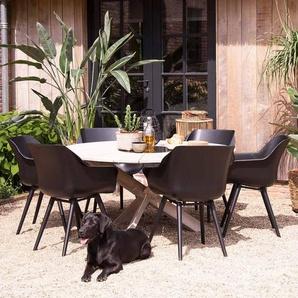 Hartman Sophie Studio Gartenmöbelset 7tlg. Aluminium/Kunststoff Schwarz