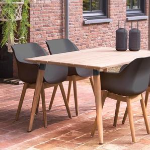 HARTMAN Sophie Studio Sitzgruppe, natur/xerix, Teak/Kunststoff, 4 Sessel, 170x100cm