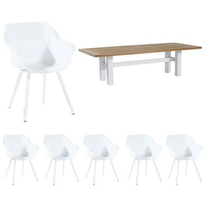 Hartman Sophie Studio/Yasmani Gartenmöbelset 7-tlg. Weiß