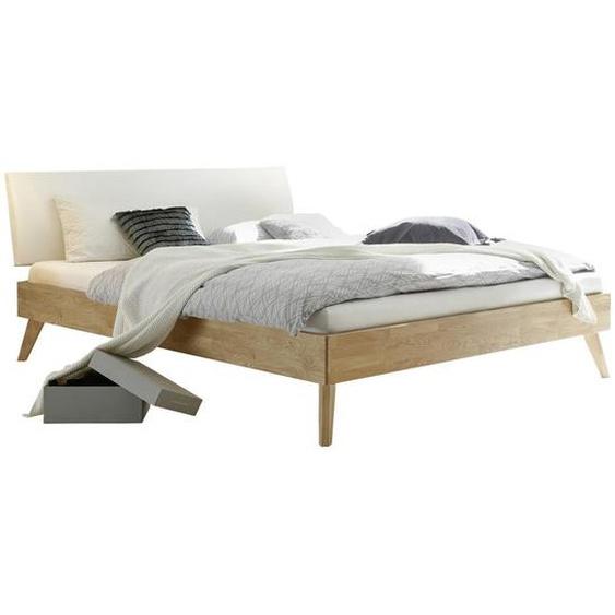 Hasena Bett Eiche massiv , Holz , 90 cm