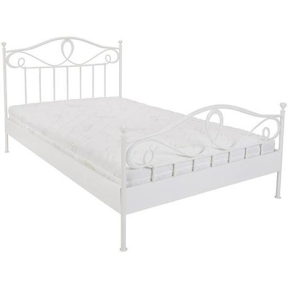 Hasena Bett , Weiß , Metall , 120 cm