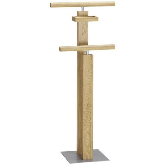 Hasena Herrendiener Braun, Silber , Eiche, Alu , Holz, Metall , massiv , 45x107x28 cm